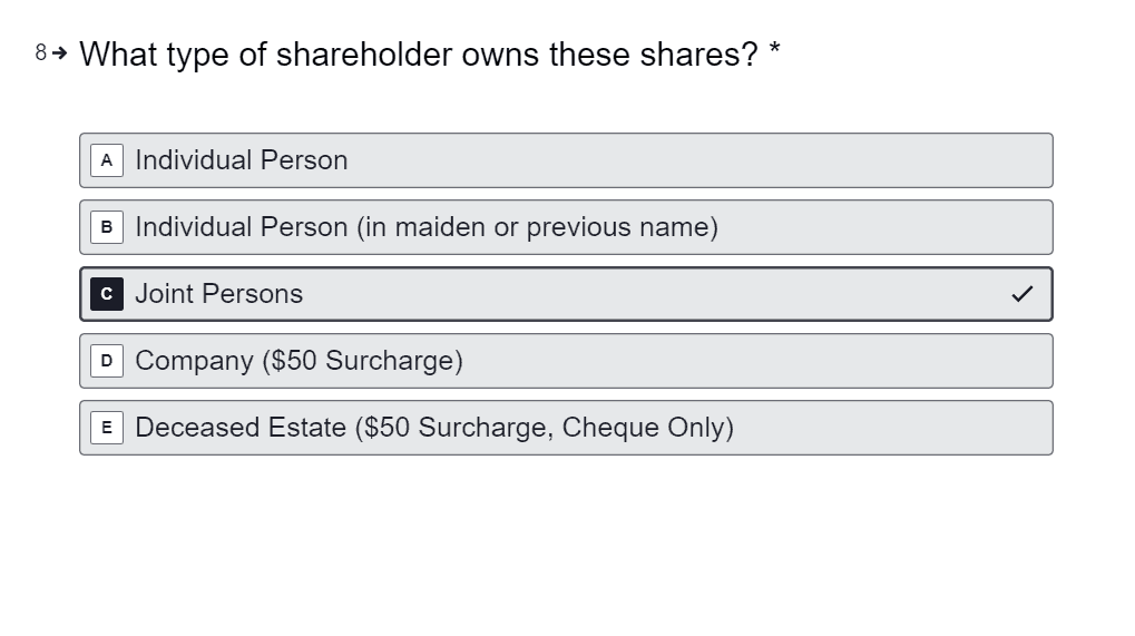 Sell Jointly Held Shares